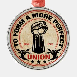 More Perfect Union 1016 Silver-Colored Round Ornament