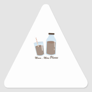 More Please Triangle Sticker