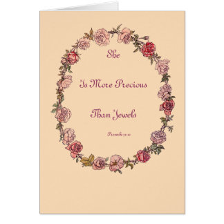 More Precious Beige New Baby Greeting Cards