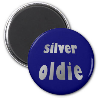 more silver oldie 2 inch round magnet