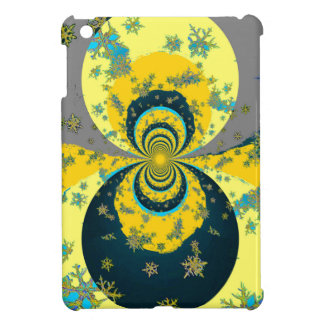 """MORE SNOW IN FORECAST"" YELLOW BLUE ART COVER FOR THE iPad MINI"