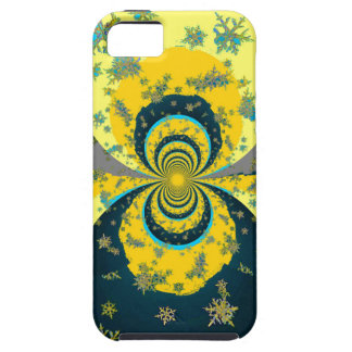 """MORE SNOW IN FORECAST"" YELLOW BLUE ART iPhone 5 CASE"