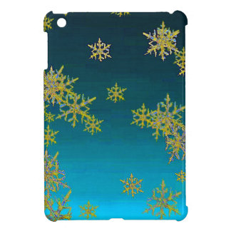 """MORE SNOW""TEAL BLUE ART DESIGN GIFTS CASE FOR THE iPad MINI"
