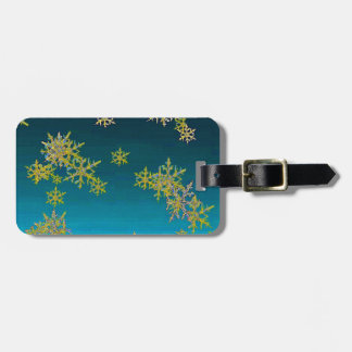 """""""MORE SNOW""""TEAL BLUE ART DESIGN GIFTS LUGGAGE TAG"""