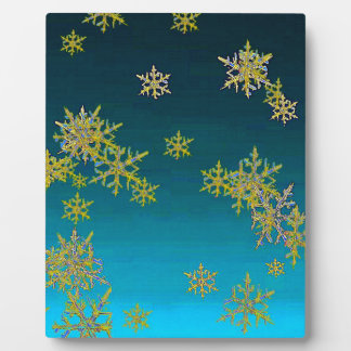 """MORE SNOW""TEAL BLUE ART DESIGN GIFTS PLAQUE"
