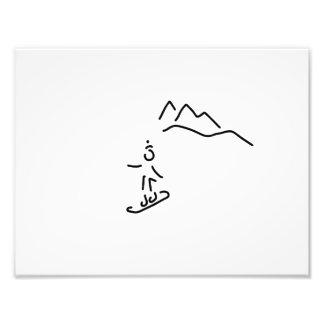 more snowboarder ski-drive winter sports photo art