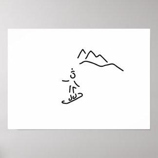 more snowboarder ski-drive winter sports poster