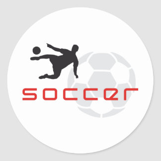 more soccer classic round sticker