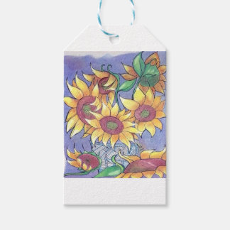 More sunflowers gift tags