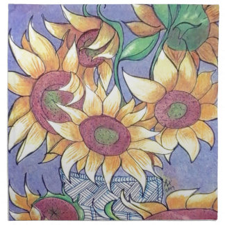 More sunflowers napkin