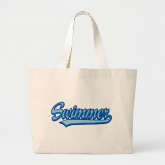 more swimmer large tote bag