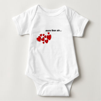 """""""more than air""""  baby one-piece body suit baby bodysuit"""