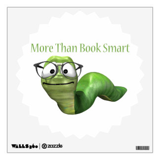 More Than Book Smart Book Worm Wall Decal