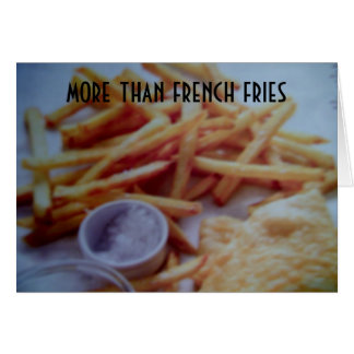 MORE THAN FRENCH FRIES I LOVE YOU CARD