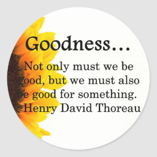 More Than Goodness Round Stickers