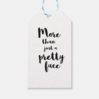 MORE THAN JUST A PRETTY FACE CALLIGRAPHY GIFT TAGS
