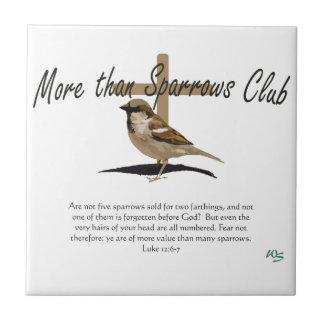 More Than Sparrows Tile