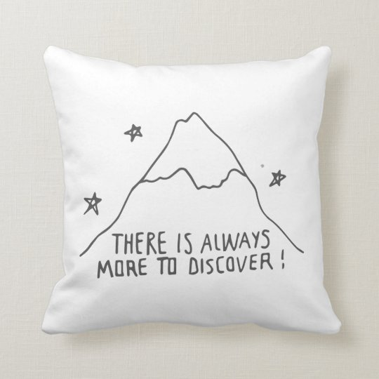 More to Discover - Grey & White Throw Pillow