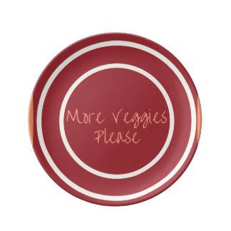 More Veggies Please Porcelain Plates