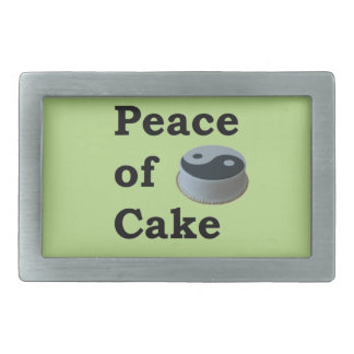 More Zen Anything Sayings - Peace Of Cake Rectangular Belt Buckle