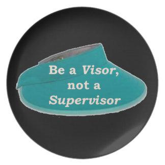 More Zen Anything Sayings -Visor not a Supervisor Plate