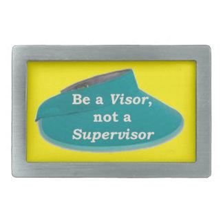 More Zen Anything Sayings -Visor not a Supervisor Rectangular Belt Buckle