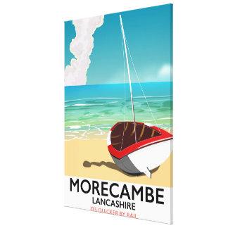 Morecambe, Lancashire Seaside travel poster Canvas Print