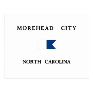 Morehead City North Carolina Alpha Dive Flag Postcard