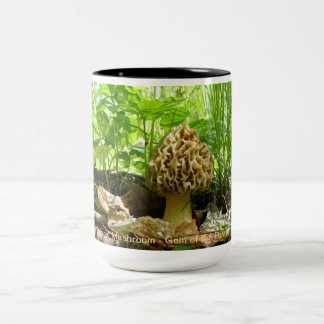 Morel Mushroom - Gem of the Forest Two-Tone Coffee Mug