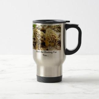Morel Mushroom Morning Travel Mug