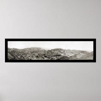Morenci, AZ Mine Photo 1909 Poster