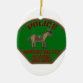 Moreno Valley Police Ceramic Ornament