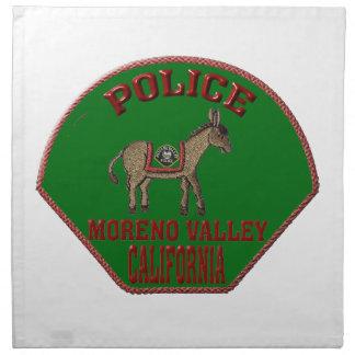 Moreno Valley Police Napkin