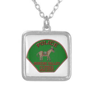 Moreno Valley Police Silver Plated Necklace