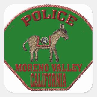 Moreno Valley Police Square Sticker