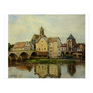Moret sur Loing, Morning by Alfred Sisley Postcard