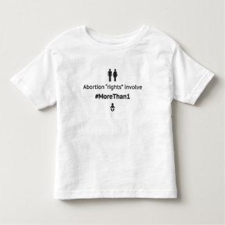 MoreThan1 Toddler T-Shirt (Blk on Wht)