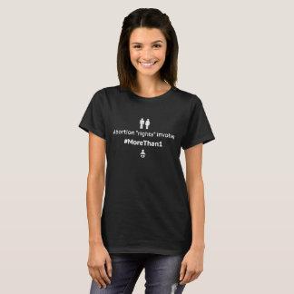 MoreThan1 Women's Basic T-Shirt (Wht on Blk)