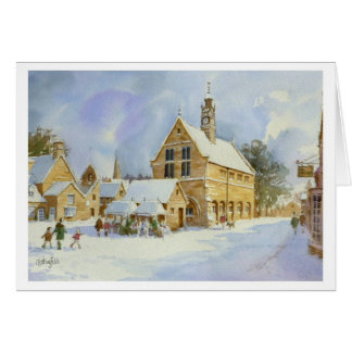 Moreton in Marsh in snow Card