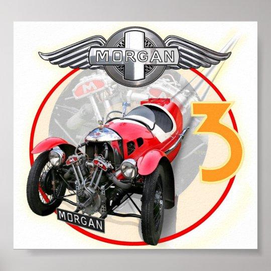 Morgan 3 wheeler painting poster