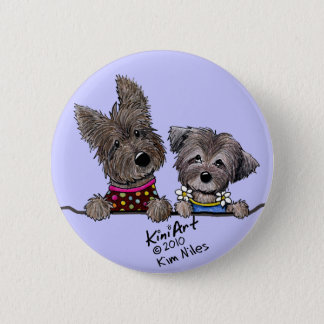 Morgan & Emily Portrait Pinback Button