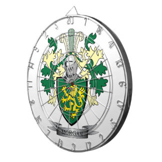 Morgan Family Crest Coat of Arms Dartboard
