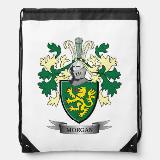 Morgan Family Crest Coat of Arms Drawstring Bag