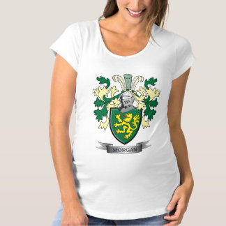 Morgan Family Crest Coat of Arms Maternity T-Shirt