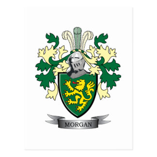Morgan Family Crest Coat of Arms Postcard