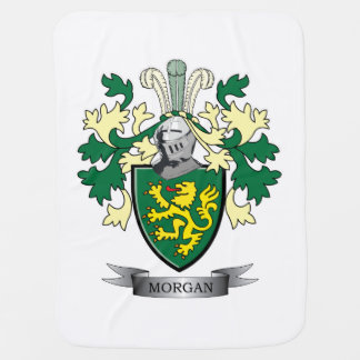 Morgan Family Crest Coat of Arms Receiving Blankets