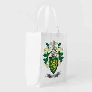 Morgan Family Crest Coat of Arms Reusable Grocery Bag
