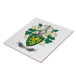 Morgan Family Crest Coat of Arms Tile
