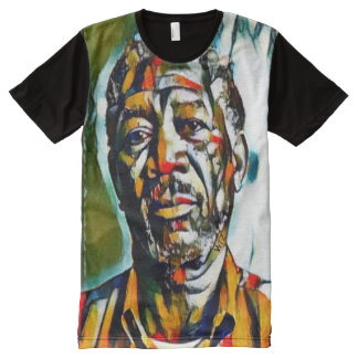 Morgan Freeman Oil On Canvas Portrait All-Over-Print T-Shirt