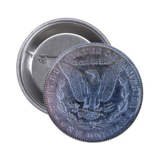 Morgan Silver Dollar Tail 2 Inch Round Button